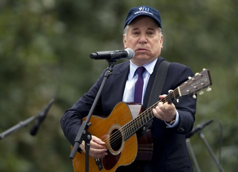 Image: Paul Simon performs on 9/11/11.
