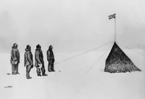 Image: South Pole salute