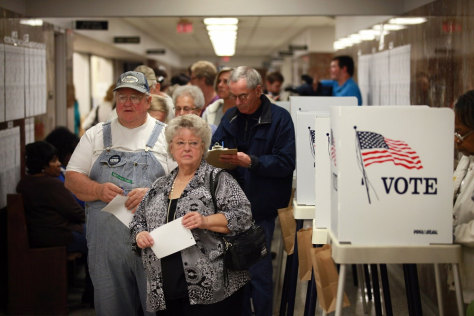 Image: Early Voting Begins In Iowa For Presidential Election