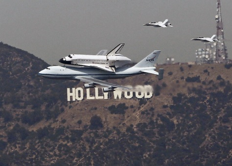 Image: Endeavour over Hollywood