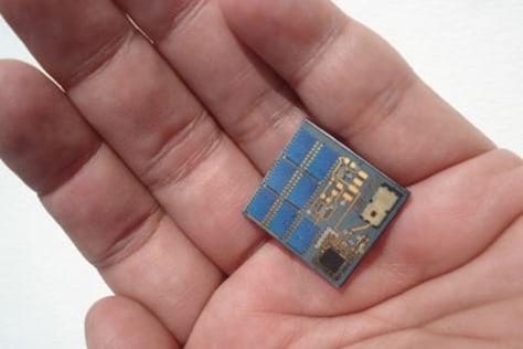 Image: Stamp-size satellite.