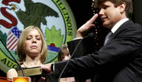 Image: Blagojevich swearing in
