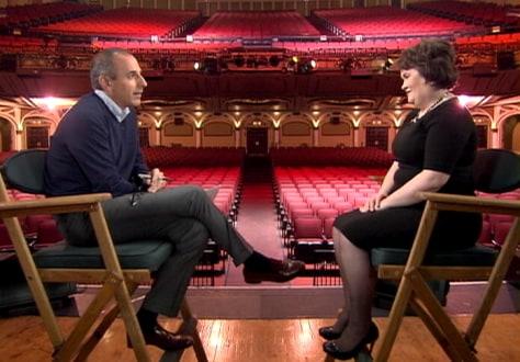 Image: Matt Lauer interviews Susan Boyle