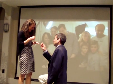 Image: David Pogue proposing to Nicki Dugan