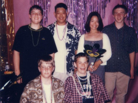 Image: Tim Hannifin, Emily Ogura and friends at their eighth-grade dance