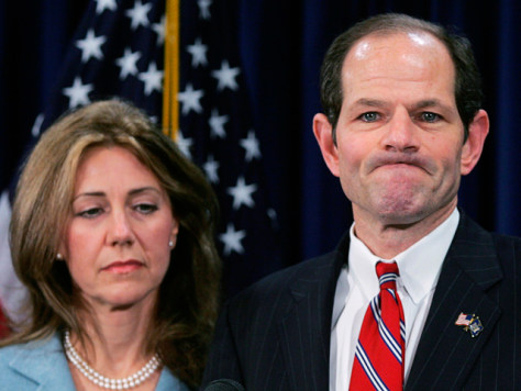 Image: Former New York Governor Eliot Spitzer and his wife, Silda Wall Spitzer
