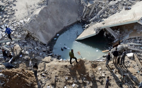 Image: Destroyed Hamas building