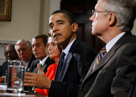 Image: Barack Obama with congressional leaders