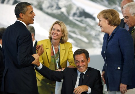 Image: Obama with European leaders