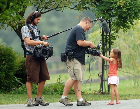Image: TLC crew filming Gosselin child