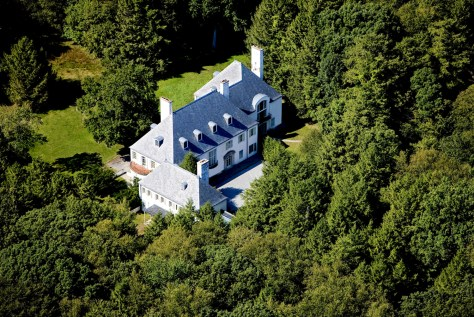 Aerial photo of estate in New Canaan