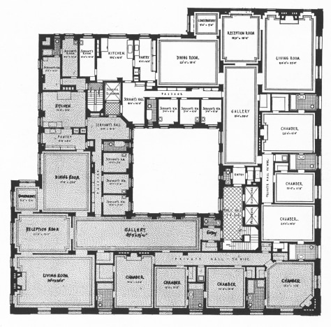 Floorplan of apartment building