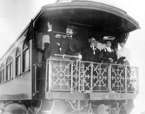 William A. Clark on a train in Las Vegas