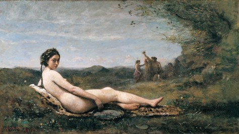 Corot painting of reclining nude