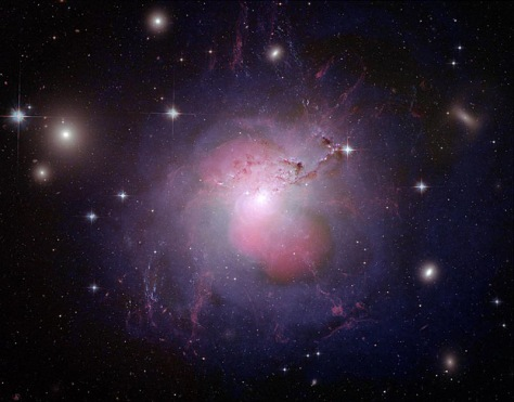 Image: Multi-wavelength image of the galaxy NGC 1275