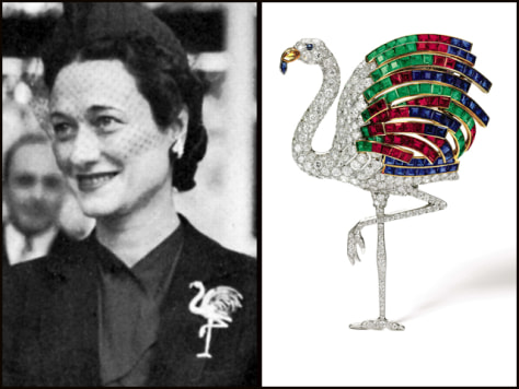 Image: Wallis Simpson, the Duchess of Windsor, and a piece of her jewelry