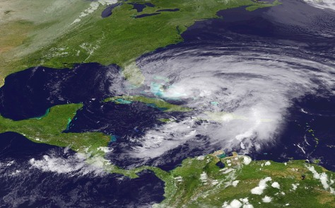 Image: Satellite view of Sandy