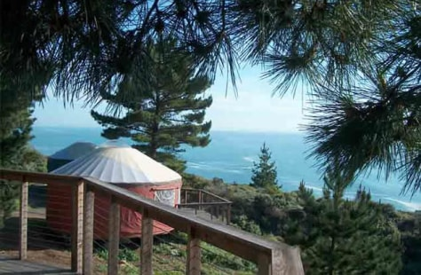 Image: Yurt with ocean view