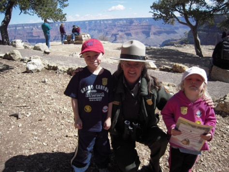 Image: National Park Junior Ranger badges