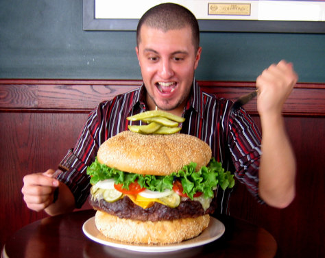 Image: Absolutely Ridiculous Burger, Mallie's Sports Bar, Southgate, Mich.