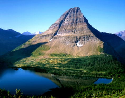 Image: Hidden Lake, nestled below a perfect glacial horn, Glacier National Park, Montana