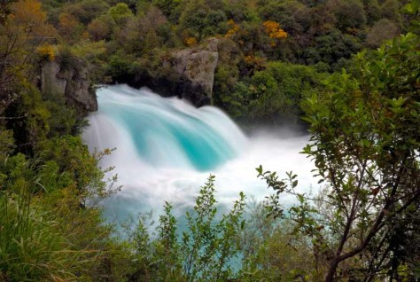 Image: Huka Falls, Waikato River, North Island, New Zealand