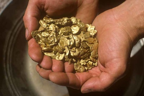 Image: Gold Nnuggets, Bonanza Gold Mine, Oregon