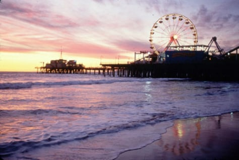 Image: Santa Monica Beach, in Santa Monica, Calif.