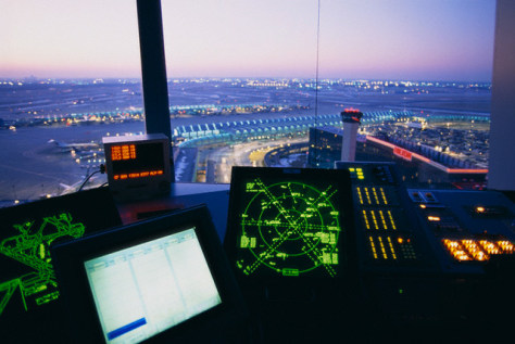 Image: Control panel in air traffic tower