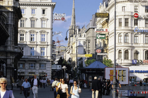 Image: Vienna shopping district