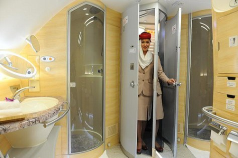 Image On Board Showers Emirates Airlines
