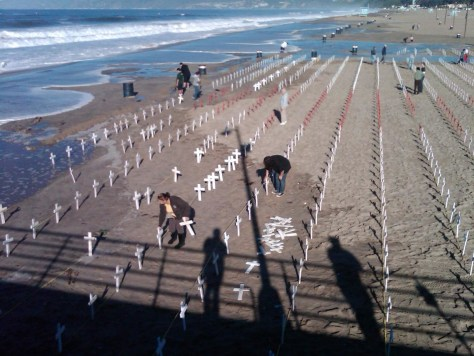 Image: Crosses in Santa Monica