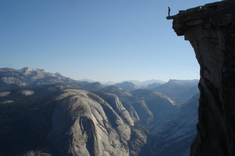 On top of Half Dome in Yosemite