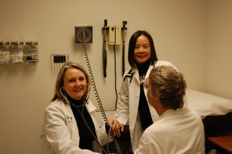 Image: Dr. Deborah Sampson, left, and Dr. Annie Kao