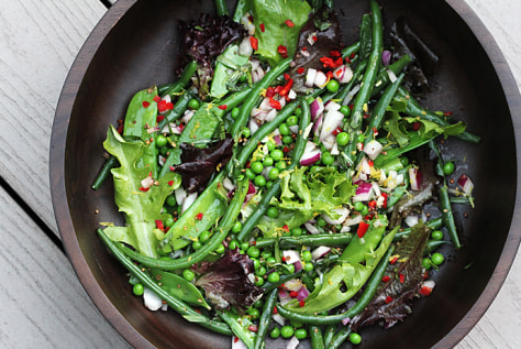 Jump to recipes Green bean salad with mustard seeds and tarragon