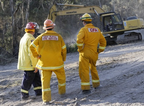 Image: Firebreak being prepared