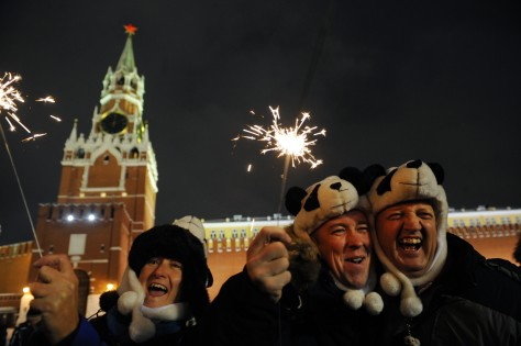 Image: New year celebration in Moscow's Red Square