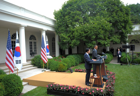Image: Obama, Myung-bak