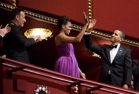 Image: Springsteen, Obamas