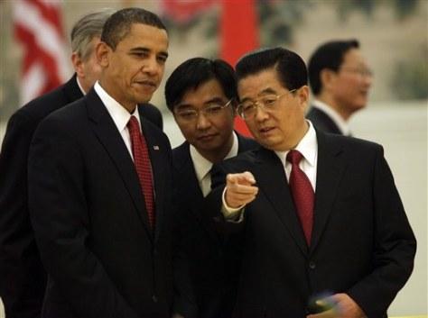 Image: Obama and Hu