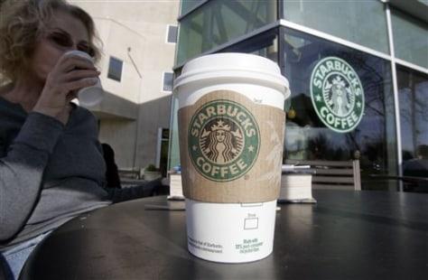 Image: Starbucks drinker