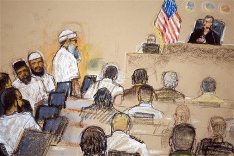 IMAGE: SKETCH OF DEFENDANTS IN COURT