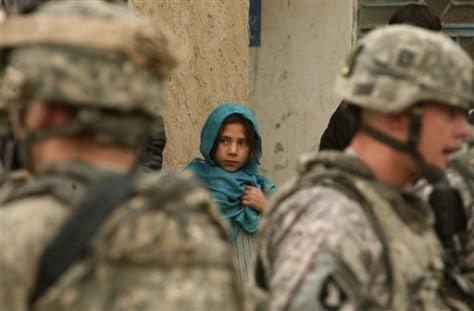 Image: An Afghan girl looks on