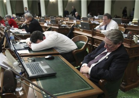 Image: California State Assembly lock down