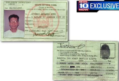 Image: Jiverly Wong's gun permit