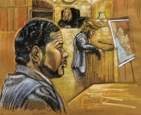 Image: Court drawing of Emmanuel