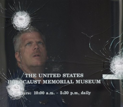 Image: Bullet strikes at the Holocaust museum