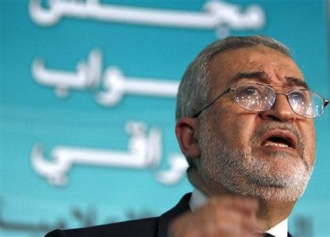 Image: Sunni lawmaker Ayad al-Samarraie