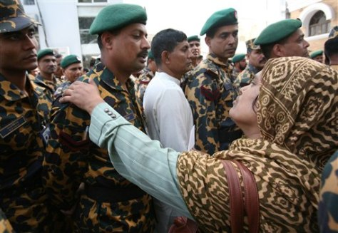 Image: Wife of a missing Bangladeshi border guard
