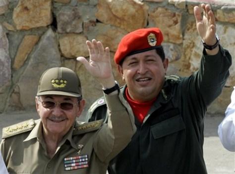 Image: Raul Castro, Hugo Chavez